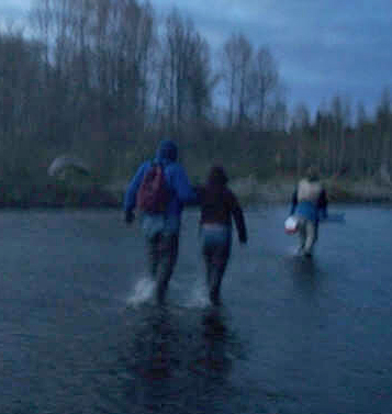 crossing the river to get to a hot spot